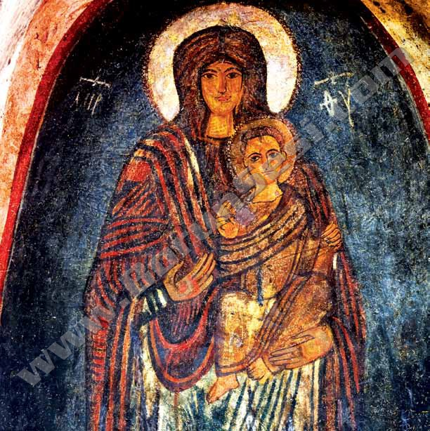 Bin Yıllık Gülen Meryem Freski Turistleri Büyülüyor