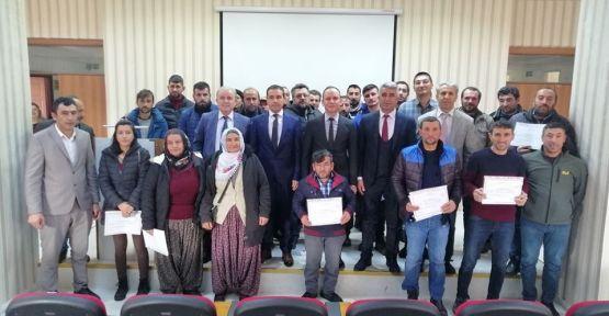 Altunhisar'da Sürü Yönetimi Sertifika Töreni Yapıldı