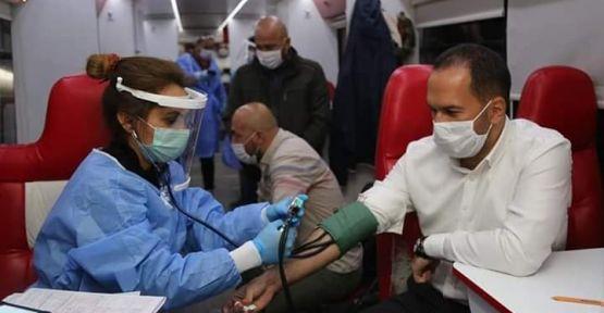 Başkan Özdemir ve Meclis Üyeleri Kan Bağışı Kampanyasına Destek