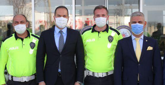 Başkan Özdemir'den emniyete polis haftası ziyareti