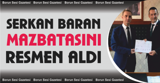 Bor Belediye Başkanı Serkan Baran Mazbatasını Aldı