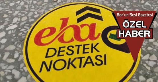 Bor'da 62 EBA Destek Noktası Bulunuyor