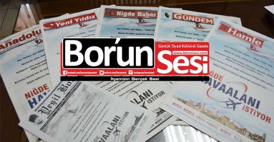 Bor'da Bir İlk (3 Haziran Gazete Manşetleri)