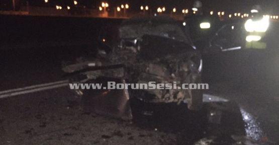 Bor'da Kaza: 1 Ölü, 1 Yaralı