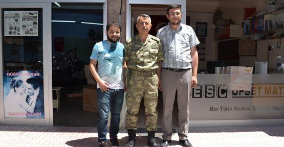 Çetin'den Gazetemize Veda Ziyareti