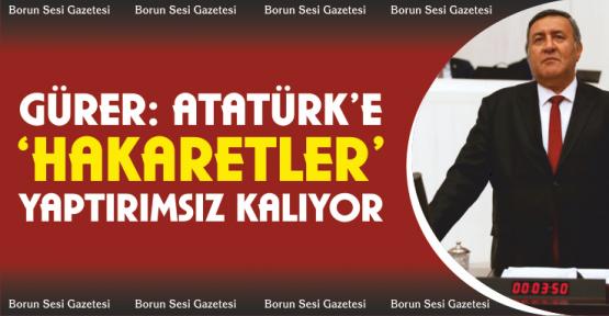 """Gürer, """"Atatürk'e Hakaretler Yaptırımsız Kalıyor"""""""