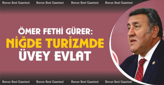 """Gürer, """"Niğde Turizmde üvey evlat!"""""""