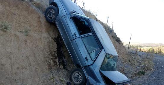 Kazada Araç Adeta Şaha Kalktı