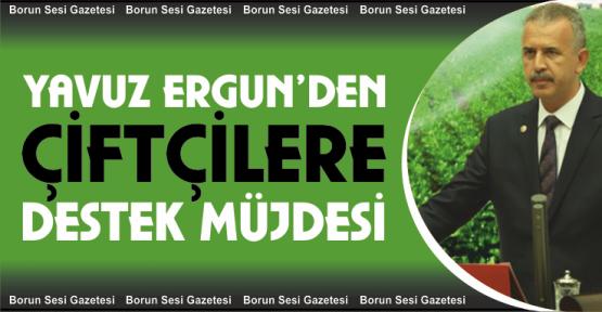 Milletvekili Ergun'den çiftçilere destek müjdesi