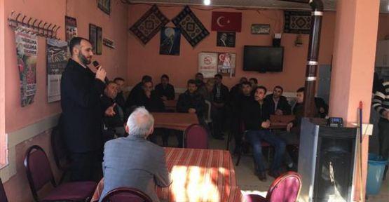 Müftü Vatandaşlarla Kahvehanede Bir Araya Gelmeye Devam Ediyor