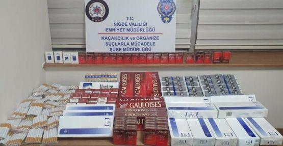 Niğde'de Kaçak Sigara Operasyonu