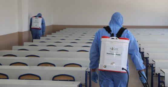 Niğde'de Okullar Dezenfekte Edildi