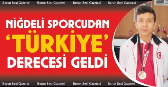 Niğdeli Taekwandocu İnan Türkiye 3'üncüsü oldu