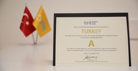 """PTT'ye """"A kalite"""" hizmet ödülü"""