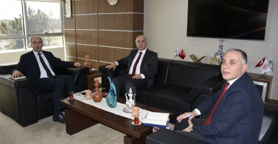 Rektör Kar'dan, KOP Başkanı Bostancı'ya Ziyaret