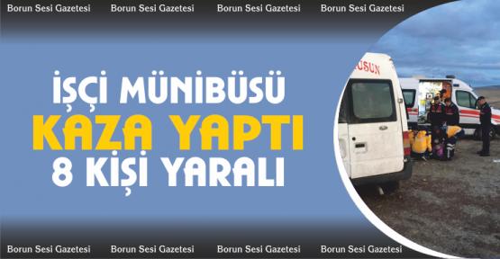 Tarım işçilerini taşıyan minibüs kaza yaptı 8 yaralı