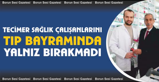 Tecimer Tıp Bayramında Karanfil Dağıttı