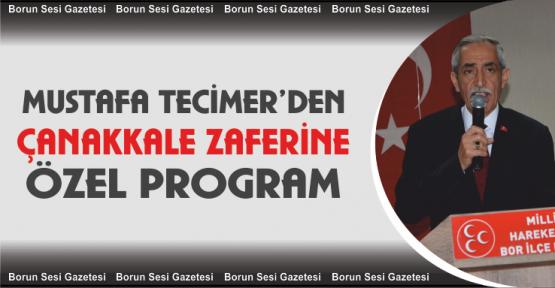 Tecimer'den Çanakkale Zaferi Programı
