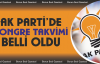 AK Parti'de kongre takvimi belli oldu