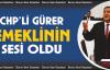 CHP'li Gürer, Emeklinin de sesi oldu