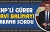 CHP'li Gürer, 'Mavi Balina'yı  Bakana sordu