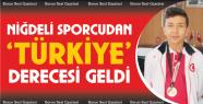 Niğdeli Taekwandocu İnan Türkiye 3'üncüsü...