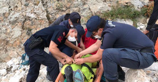 Ukraynalı Dağcıyı Jandarma Kurtardı
