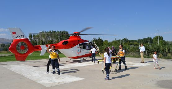 (VİDEO HABER) Ambulans Helikopter Hayat Kurtarıyor