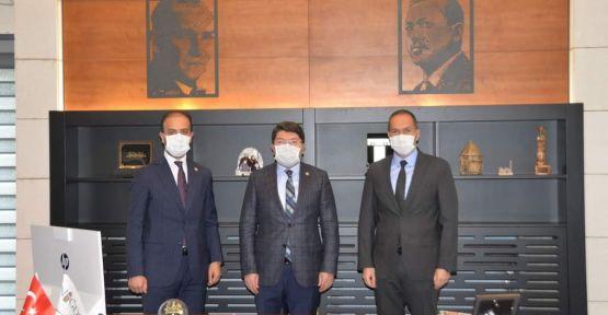 Tunç'tan Başkan Özdemir'e ziyaret
